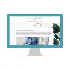 Health and Wellness Website Template Homepage