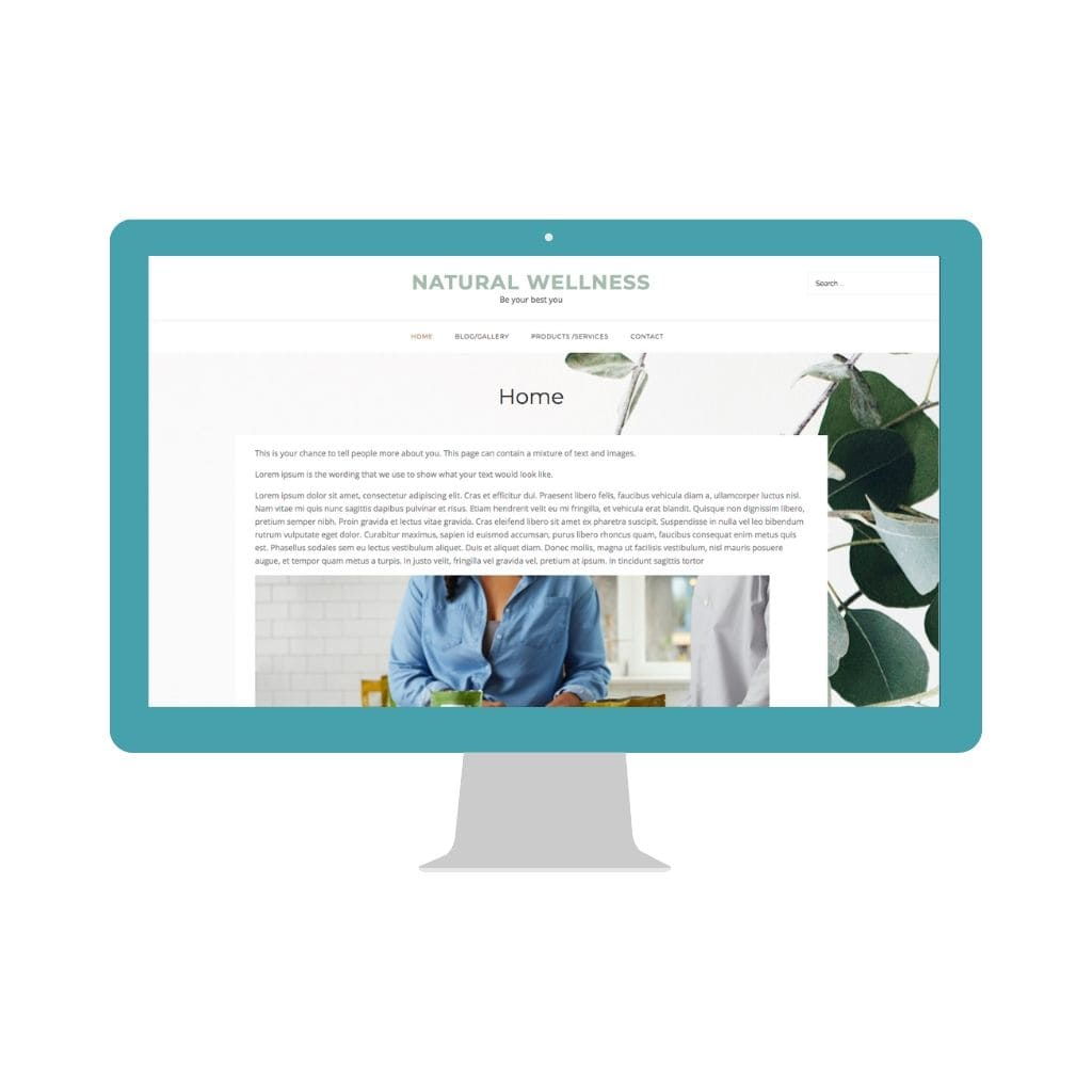 Health and Wellness Website Template Homepage